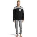 Hanes 4166 Men's 1901 Heritage Henley with front and back Yolk and Jogger Pant Set