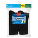 Hanes 421/10 Boys Crew EZ Sort Socks 10-Pack