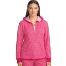 Hanes 4A03 Women's French Terry High Low Zip Hoodie