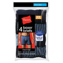 Hanes 7347P4 Men's Ringer Boxer Brief with Comfort Flex Waistband 4-Pack