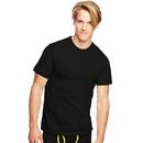 Hanes 7873B3 Classics Men's Traditional Fit ComfortSoft TAGLESS Dyed Black Crewneck Undershirt 3-Pack