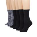 Hanes 859/6 ComfortBlend Women's Crew Socks 6-Pack
