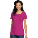 Hanes 9254 Women's Jersey Relaxed Crew Pocket Tee