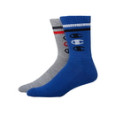 Champion CH168 Men's Performance Crew Socks, Vertical C Logo, 2-Pack