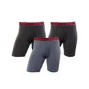 Champion CHALBG Men's Active Performance Long Leg Boxer Brief 3-Pack