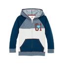 Hanes D266 Boys' Graphic Fleece Colorblock Full Zip Hoodie