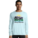 Hanes G200P Y07850 Men's ComfortWash Rocky Mountain National Park Long Sleeve Tee