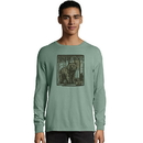 Hanes G200P-Y07855 ComfortWash Yellowstone National Park Graphic Long Sleeve Tee