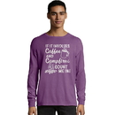 Hanes ComfortWash Coffee and Campfires National Park Graphic Long Sleeve Tee