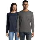 Hanes GDH250-GRTDYE Men's ComfortWash Garment Dyed Long Sleeve Pocket Tee