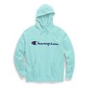 Champion GF140 Y07466 Women's Plus Powerblend Fleece Hoodie, Script Logo