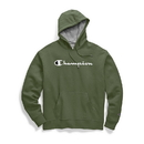 Champion GF89H Y07718 Men's Powerblend Fleece Pullover Hoodie, Script Logo