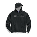 Champion GF89H Y07974 Men's Powerblend Fleece Pullover Hoodie, Chainstitch Outline Logo