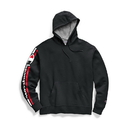 Champion GF89H Y07975 Men's Powerblend Fleece Pullover Hoodie, Vertical Logo