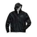 Champion GF91H Y07972 Men's Powerblend Fleece Zip Hoodie, Chainstitch Outline C Logo