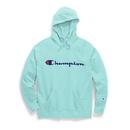 Champion GF934 Y07418 Women's Powerblend Fleece Pullover Hoodie, Script Logo