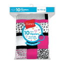 Hanes Girls' Cotton Hipsters 10-Pack