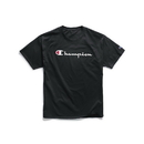 Champion GT23H-Y06794 Men's Graphic Jersey Tee, Script Logo
