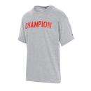 Champion GT23H Y08159 Men's Classic Jersey Ringer Tee, Block Logo