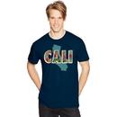 Hanes GT49-Y06363 Men's California Postcard Graphic Tee