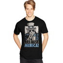 Hanes GT49 Y07076 Men's Because Merica Graphic Tee