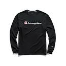 Champion GT78H-Y06794 Men's Classic Jersey Long-Sleeve Tee, Script Logo