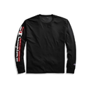 Champion GT78H Y07980 Men's Classic Jersey Long-Sleeve Tee, Vertical Logo