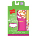Hanes GUCSP4 Ultimate TAGLESS Cotton Stretch Girls' Boy Shorts 4-Pack