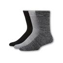 Hanes HT3L3 Men's 1901 Heritage Cushion Crew Socks 3-Pack