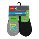 Hanes IC26 Men's ComfortBlend Cushioned No-Show Liner Socks Active Cut 6-Pack