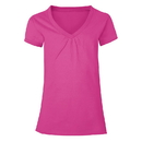 Hanes K046 Girls' Shirred V-Neck Tee