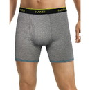 Hanes LB239Z Men's FreshIQ Cool Comfort Breathable Mesh Boxer Brief (5 + 1 Free Bonus Pack)
