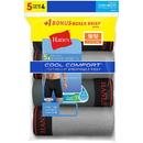 Hanes LBMCBZ Men's FreshIQ Cool Comfort Breathable Mesh Long Leg Boxer Brief 5-Pack(4 + 1 Free Bonus Pack)
