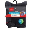 Hanes Men's ComfortBlend Max Cushion Crew Sock 6-Pack