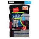 Hanes Men's Cool DRI Long Leg Boxer Briefs with Comfort Flex Waistband 5-Pack