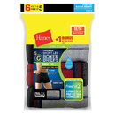 Hanes Men's White TAGLESS Short Leg Sport Styling Boxer Briefs (5+1 Free Pair)