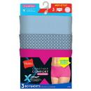 Hanes MI47P3 X-Temp Constant Comfort Women's Microfiber Boyshort Panties 3-Pack