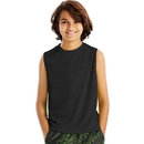 Hanes OD180 Sport Boys' Sleeveless Heathered Tech Tee