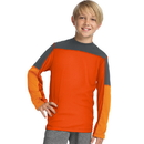 Hanes OD256 Sport Boys' Long Sleeve Pieced Tech Tee
