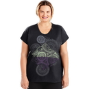 Just My Size OJ358 Active Dolman Sleeve Graphic Tee