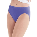 Hanes P543WB Women's Plus Cotton Hi-Cut Panties 5-Pack