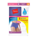 Hanes P840WH Women's Brief 8-Pack (6+2 Free Bonus Pack)