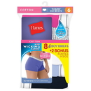 Hanes Women's Cool Comfort Sporty Boy Brief P6+2 free (Bonus Pack)