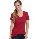 Hanes S04V Women's Nano-T V-Neck T-Shirt