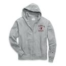 Champion S1232-549309 Men's Heritage Fleece Zip Hoodie, Distressed C Logo