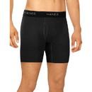 Hanes ST23G4 Men's Stretch Boxer Briefs With Comfort Flex Waistband Black/Grey 4-Pack