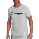 Champion T39474-549814 Men's Heritage Ringer Tee, Flocked Script Logo