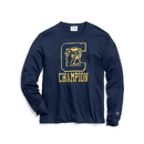 Champion T4333-549318 Men's Heritage Long-Sleeve Slub Tee, C Logo with Bulldog