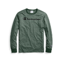 Champion T4528G 549914 Men's Heritage Heather Long-Sleeve Tee, Script Logo