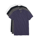 Hanes TGT804 Men's Garment Washed Crewneck Short-Sleeved Tee Assorted 4-Pack